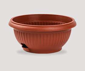 Decorative flowerpot with pad ø250mm