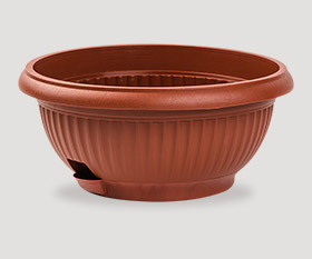 Decorative flowerpot with pad ø300mm