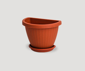 Wall flowerpot with pad r-150mm