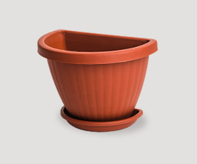 Wall flowerpot with pad r-200mm