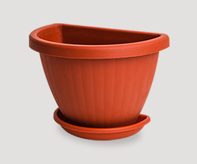 Wall flowerpot with pad r-250mm