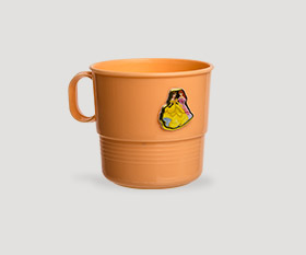 Cup 2dl with sticker
